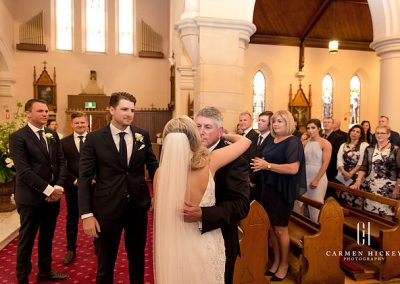 Patrick and Alex in Wagga Wagga church ceremony