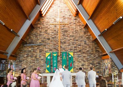 Peter and Emma in Cootamundra church ceremony