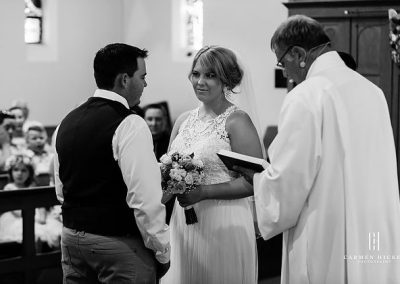 Love is Aaron Bonnie Tumut church ceremony at All Saints