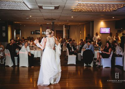 Love is Aaron Bonnie Tumut reception at The Club
