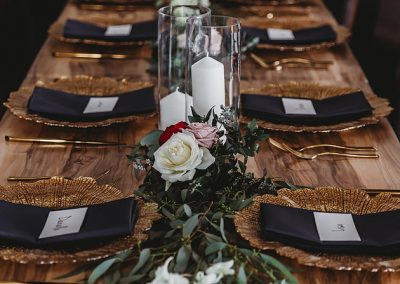 Matt Sarah Forever in Love reception styling vineyard at Cottontails Winery