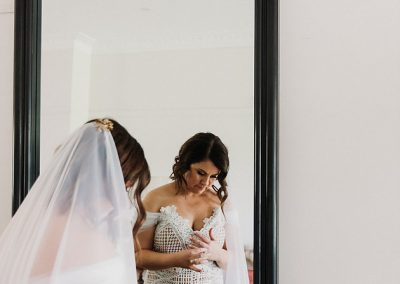 Dean Megan Their Love Story bride getting ready