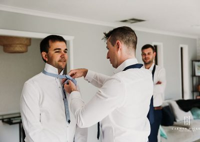 Dean Megan Their Love Story groom getting ready