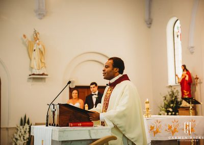 Michael Taleasha Love in the Cotton ceremony at Sacred Heart Catholic Church Griffith
