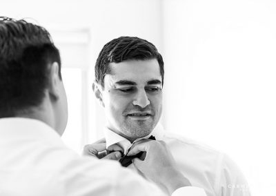 Michael Taleasha Love in the Cotton groom getting ready