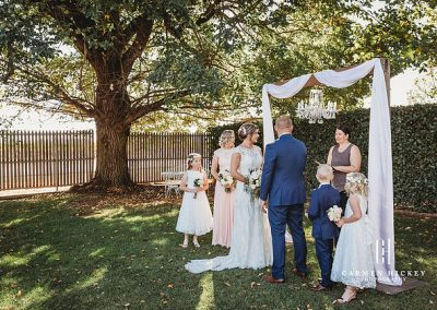 Peter Belinda Happily ever after ceremony at Lindenwarrah Milawah