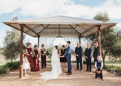 The Richness of Love Jono Laura ceremony at Magpies Nest Wagga Wagga