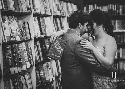 Mitch Bree Winter Love in Wagga Wagga Collins Bookstore wedding photos