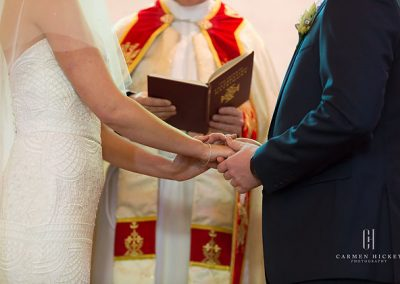 Steven and Brittany in Daylesford church ceremony