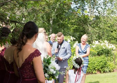 Jono and Adelle at Orange Grove Gardens Culcairn outdoor ceremony